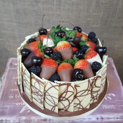 Healthy choc cake