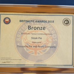 Bronze Award British pie Championship 2018