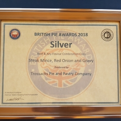 Silver Award British pie Championship 2018