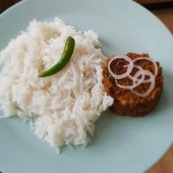 Lamb keema and rice