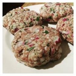 Healthy & delicious lamb burgers