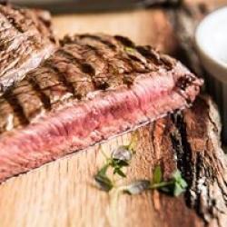 grass fed, dry aged steak
