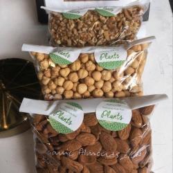 3 x 500g Bags - Organic Almonds, Hazelnuts, Walnuts