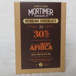Drinking Chocolate 30% cocoa solids, made using wonderful natural cocoa from West Africa