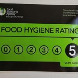 5 stars on hygiene