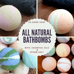 All Natural  Gift Set Bath Bombs