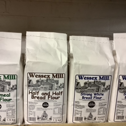 Range of Wessex Mill Bread and Baking Flours in store