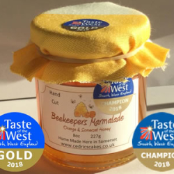 Champion Taste of the West Beekeepers Marmalade 2018