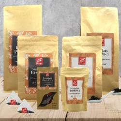 Range of sizes in teabags and loose leaf