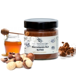 Macadamia nut butter with cocoa and honey