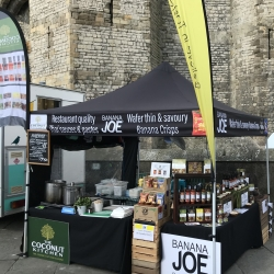 The Coconut Kitchen on tour in Caernarfon Castle