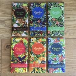 Range of organic, chocolate and treats (many vegan)