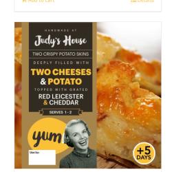 Two Cheesy Loaded potato skins