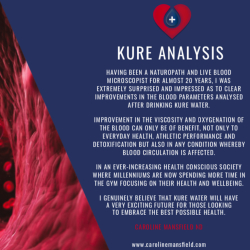 Kure Oxygen Water Live Blood analysis before and after