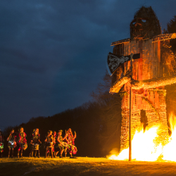 Beltain celebrations at Butser Ancient Farm
