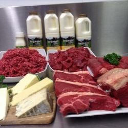 Raw milk & organic beef
