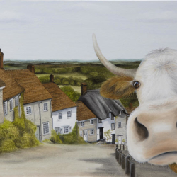Gold Hill - Cow Selfie - Lucy's Farm