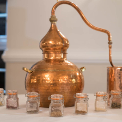 Alembic copper still hand crafted gin