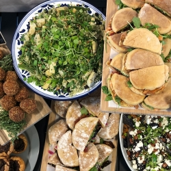 A typical (catering) lunch spread.