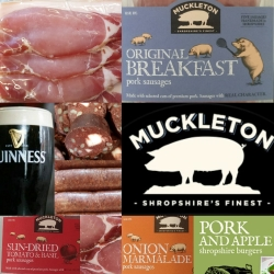 Some of our range - Includes Black Velvet sausages (pork, black pudding & Guinness)uddin