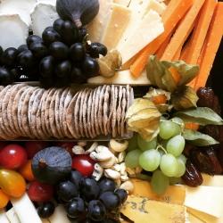 pistachio & pickle cheese platter