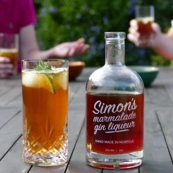 Simon's Marmalade Gin Liqueur + Ginger Ale