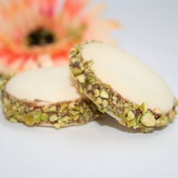 Hazelnut Ganache & Pistachios Alfajores (Gluten-Free)