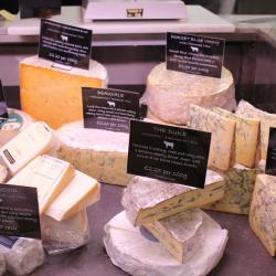 Artisan British cheese counter
