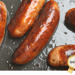 Gold award winning sausages