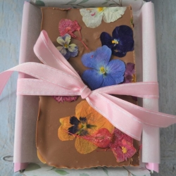 Artisan Fudge Decorated with Edible Flowers