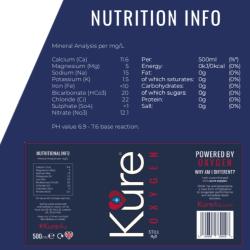 Kure Oxygen water nutrition information
