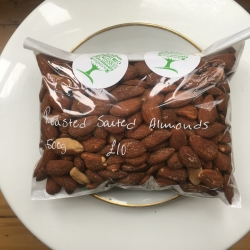 Organic Salted Almonds 500g
