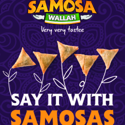 Say it with samosas