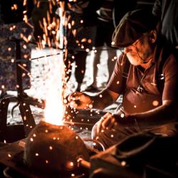 Metalworking workshops at Butser Ancient Farm