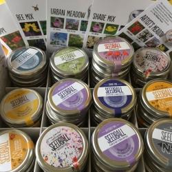Gorgeous tins of wild flower Seedballs