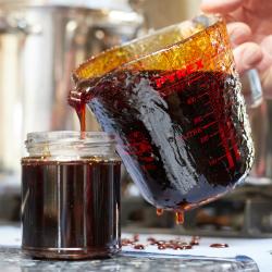 Pouring Simon's Marmalade