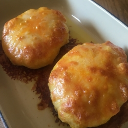 Two cheeses Loaded Skins