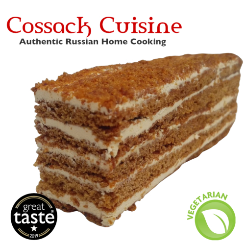 🍯 Russian Honey Cake slice (v)