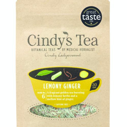 Lemony Ginger Herbal Tea - uplift with Lemon Myrtle