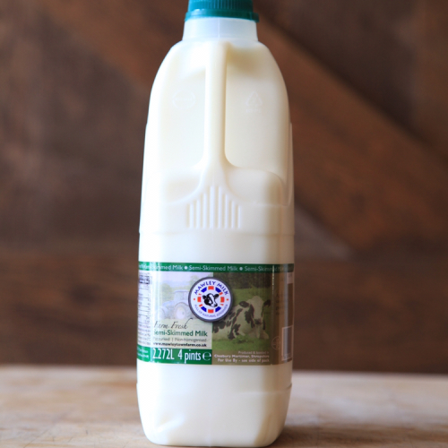 Pasteurised Semi Skimmed Milk (non homogenised)