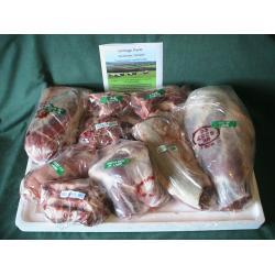 Whole lamb, fresh organic meat box