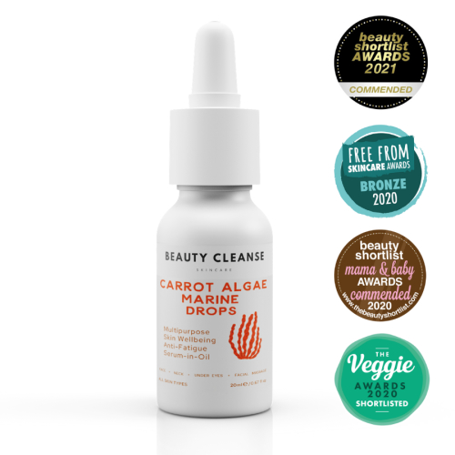 Anti-Fatigue Carrot Algae Marine Drops | Facial Serum-in-Oil (Multipurpose 4-in-1)