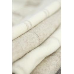 Large Blanket - Cream Double Stripe
