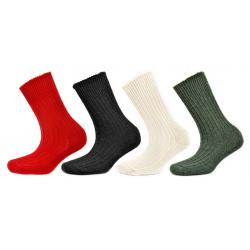 Alpaca Walking Socks Red 4-7