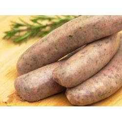 Rare breed Tamworth sausages