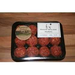 Spicy Morrocan Goat Meatballs