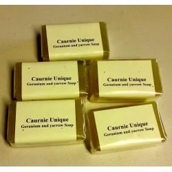 Geranium yarrow soap 5 bars