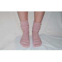 90% Alpaca Luxury Bed Socks 8-10 Pink