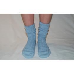 90% Alpaca Luxury Bed Socks 4-7 Blue