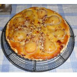Pear & mascarpone tart